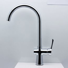 Real Snyder full copper kitchen faucet hot and cold sink faucet rotation Single lever faucet Caipen leader