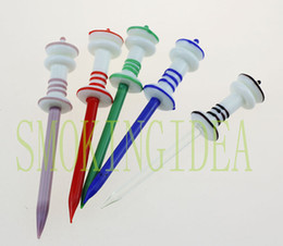 Wholesale smoking Glass wax dabber smoking swirl glass dabber mixed set for oil rig or water pipe