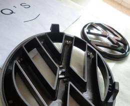 Wholesale gtd emblem GLOSS BLACK FRONT BUMPER GRILL BADGE REAR BOOT EMBLEM VW GOLF MK6 TDI GTI R GTD Q S