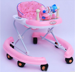 Wholesale Eco Friendly Folding Baby Walker Height Adjustable Infant Walker High Quality Children Walker With Educational Toys