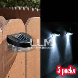 Wholesale Details about Garden Path Wall Fence Lawn Outdoor Solar Powered Power LED Lamp Lighting Lights