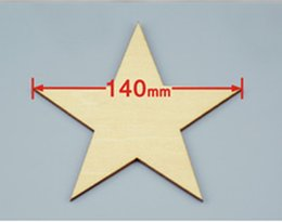 Wholesale 12pcs mm Blank pentagram natural plywood Suitable for Christmas party wood wedding teaching of DIY accessories