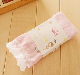 Wholesale high quality cotton Lace dot deco cotton baby girl basic tights stockings fashion girl dancing