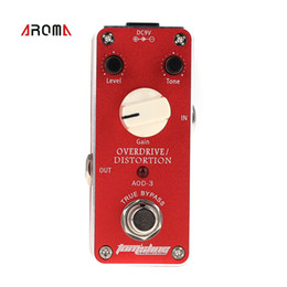 Wholesale Mini Overdrive Distortion Electric Guitar Effect Pedal Aluminum Alloy Housing True Bypass Design Guitar Pedal Aroma AOD I726