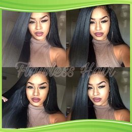 NEW High quality Virgin Brazilian Silky Straight Full Lace Wig Long Straight Full Lace Human Hair Wigs For Black Women