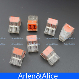 Wholesale 100Pcs PCT Push wire wiring connector For Junction box pin conductor terminal block
