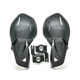 Wholesale NEW BLACK CARBON Handguards Handlebar Hand Guards Fit Motorcycle Motocross Dirt Pit Bike Off Road CRF450 YZF KXF KTM EXC RMZ ATV