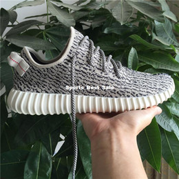 Wholesale 2015 Mens Shoes Kanye West Yeezy Boost Athletic Boots Ankle Boots Low cut Shoes with Original Box Sports Boot