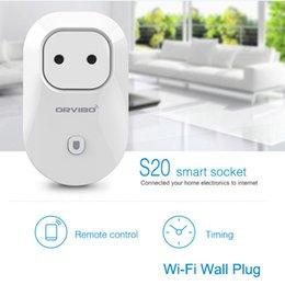 Wholesale Orvibo S20 Wifi Power Socket Wireless Plug Timer Switch Wall Plug Phone Wireless Remote Control Home Appliance Automation