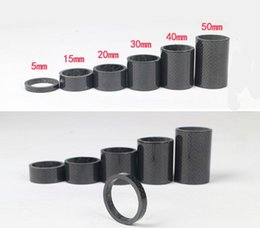 Wholesale 5 mm set kGlossy Matte Finish Carbon Headset Spacer x35mm For Road MTB Bicycle