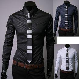 Free Shipping New Fashion Casual slim fit shirts Leisure styles men t shirts cheap mens shirts