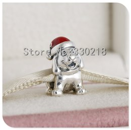 pandora Puppy dog charms 925 sterling silver loose beads for thread bracelet fashon jewelry authentic quality