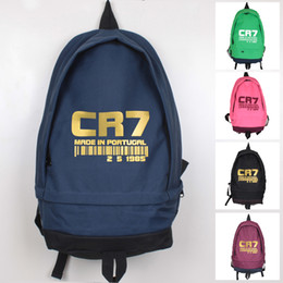 2018 New Fashion Cristiano Ronaldo Foot Ball Backpack Boys Girls School Bag Men Women CR7 Large Capacity Travel Canvas Backpacks