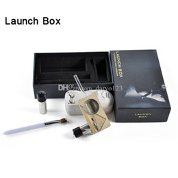 Wholesale Magic Flight Launch Box Vaporizer Dry herb Vapor Cigarette Kit renewable Birch Hardwood box mod kit dhl free ship