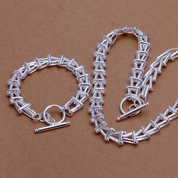 High grade 925 sterling silver A three-dimensional character Necklace Bracelet Set jewelry sets DFMSS340 Factory direct sale 925 silver