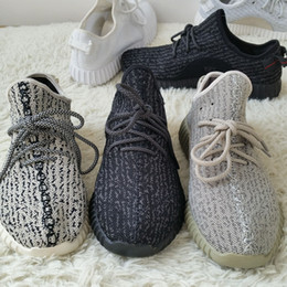 Wholesale 2016 Fashion Boost Black Breathable Running Shoes Kanye West Boost Moonrock air Sports Sneakers With Shoes Box