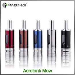 Original Kanger Aerotank Mow BDC Atomizer Adjustable Airflow Dual Coil Pyrex Glass Clearomizer 1.7ml Fit on Kanger Emow & Vision Spinner 2