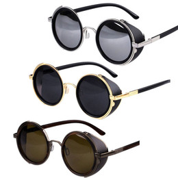 New Unisex Classic Punk Round Blinder Retro Eyewear Sunglasses Dave