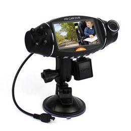 Cámaras de lentes de porcelana en Línea-2,7 pulgadas de 270 grados GPS G-sensor de infrarrojos de visión nocturna de TFT LCD dual Dash 2 lente de la cámara del vehículo HD DVR Kit Car Cam Video Recorder R310