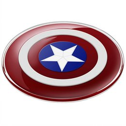 Wholesale Fashion Design QI Wireless Charger Genuine Avengers Edition Adaptor Portable Wireless Phone Charger For Mobile Phone