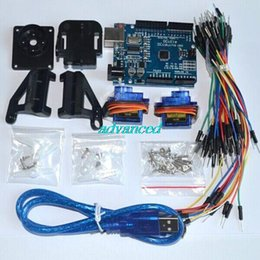 Wholesale UNO R3 board KIT USB Cable SG90 servos FPV dedicated nylon PTZ breadboard cables for arduino