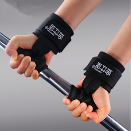 Wholesale-Adjustable Hands Wrist Pads protector Weight lifting Pull up Non-slip Dumbbells Training Fitness Gym Weightlifting Gloves