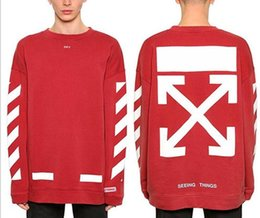 OFF WHITE traffic signal slash deceleration zone tide brand men's casual T-shirt printing couple hoodies