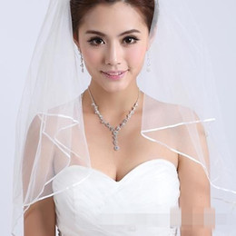 2015 Cheapest Two-Layer Wedding Veils Real Garden Veils Shoulder-Length With Comb High Quality White Veils for Wedding