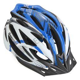 Wholesale-Road Mountain MTB Helmet Bike Bicycle Helmet BMX Cycling Helmet Visor Adjustable Blue Size L
