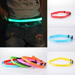 Wholesale LED night flash reflex automatic buckle belt bike running outdoor sports J