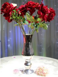 Wedding decoration silvery flower vases for home decor