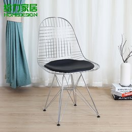 Wholesale Eiffel chairs barbed wire grid to take the modern fashion industry metal chairs