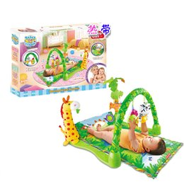 Wholesale Delicate Music Sound Farm Animal Kids Baby Play Playing Mat Carpet activity forest Play mat Gym Toy Help the baby grow up gift