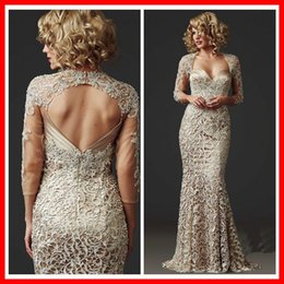 Wholesale Sexy Sweetheart Mermaid long Sleeve Lace Wedding Party Dress Vestido De Madrinha Para Casamento Longo