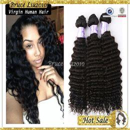 Wholesale Cheap Brazilian Deep Curl - NEW STYLE Hair Deep Wave, 8A Deep Curly Wave Hair, Brazilian Natural deep curl remy hair 3Pcs Lot Cheap Hair Weave Free Shipping