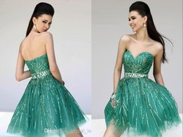 Sexy Color Hunter Crystals Tulle Backless Charming Unique Cocktail Dresses Sequin Homecoming Dress Short Party Dress Ball Gown Plus Size
