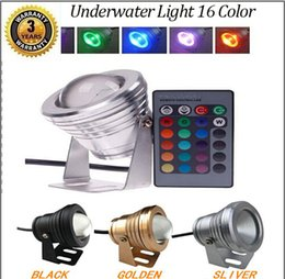 Wholesale 2015 Best Waterproof w Led Underwater Light Color Changing RGB LED Pool Pond Fountain Lamp V RGB Floodlight With Key IR Remote