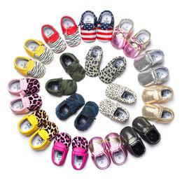 Wholesale Baby Boys Shoes Fringe Animal Print Newborn Shoe Toddler First Walkers Children Moccasins