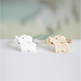 Cute Cluster Rings Beatuiful Ring for Girls 18K Gold Plated Rings Elephant Shap Design for Sale21