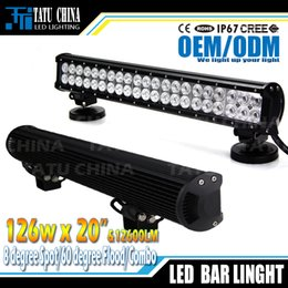 Wholesale LED bar light WLED Work offroad Light spot flood Beam fog driving bar WD X4 ATV Truck