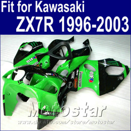 Motorcycle bodywork for Kawasaki ZX7R fairings green black 1996 - 2003 Ninja ZX 7R 96-01 02 03 fairing kit WT24