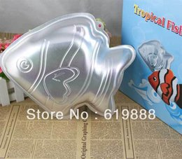 Wholesale Tropical Fish Cake Pan Bread Molds Boudin Cake Stencil DIY Aluminum Anode Baking Abrasives