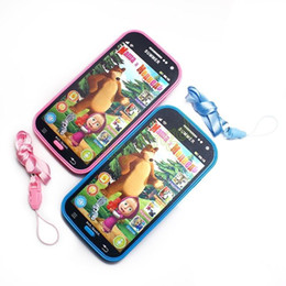 New Baby Mobile Phone Toy Russian Language Learning Machines Talking Masha And Bear Learning&Education Plastic Juguetes