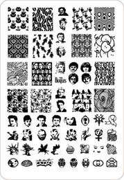 Wholesale-New Arrival Large Size Nail Stamp Plates Retail HWH-09 Fashion Designs Konad Stamping Nail Art Set Nail Stencil Templates407