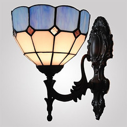 6 Inches Stained Glass Tiffany Vintage Lamp Wall LED Light For Home Lighting Arandela Lampara Pared