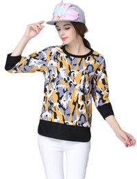 5XL 4XL t-shirt Fashion Ladies Casual Print T Shirts Plus Size Raglan Sleeves Camouflage Shirt Women Shirts Autumn Tops Tees