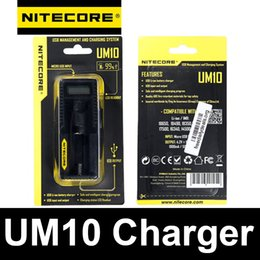 Wholesale NITECORE UM10 Charger Original Authentic nitecore UM10 battery chargers for electronic cigarettes recharger battery