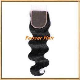 high quality cheap indian virgin hair three part free part middle part body wave 4x4 size lace top closure 130% density with baby hair