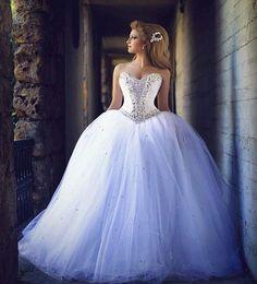 2016 mariage strass robe de cristal Robe de mariée robe de mariée en satin de mariage budget mariage strass robe de cristal