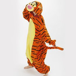 Wholesale Brand New Adult cartoon animals sleeper Cosplay tigger Couples dress that occupy the home Performance clothing pajamas